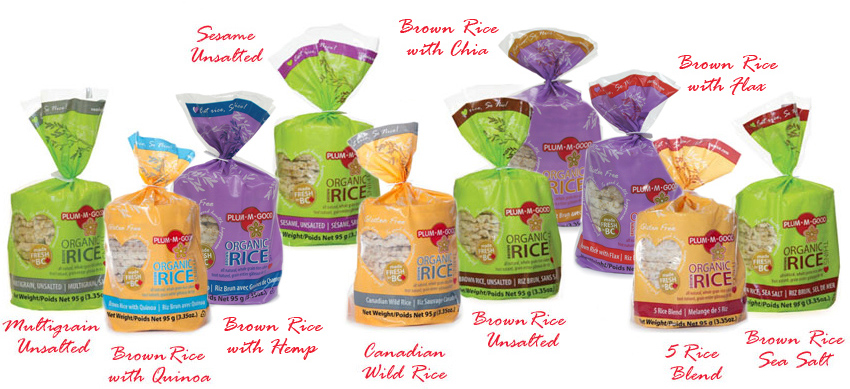Plum•M•Good Organic Rice Cake Thins Line